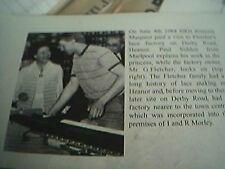 book picture heanor 1984 hrh princess margaret fletcher lace factory derby road