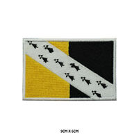 NORFOLK County Flag Embroidered Patch Iron on Sew On Badge For Clothes Etc