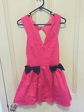 Lucy in the Sky Dress Size 8 Pink Bow Details Boning V Front