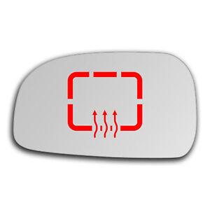 Left Side Clip On Heated Mirror Glass for Hyundai Santa Fe 2000 - 2006 552LSHE12