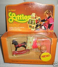 #1027 RARE NRFB Vintage Mattel the Littles Kenny & Rocking Horse/Red Wagon