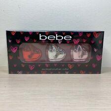 Bebe Perfume Coffret Eau de Parfum Gift Set Trio Hearts Sheer Bebe Kisse Me NEW