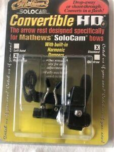 "Mathews Solocam Convertible HD Right Hand Standard 0"" Right Black Arrow Rest6026"