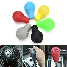 1Pc Soft Bump Silicone Nonslip Car Shift Knob Gear Stick Cover Protector Black