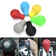 1Pc Soft Bump Silicone Nonslip Car Shift Knob Gear Stick Cover Protector Black