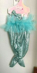 Toby Baby Girl Mermaid Outfit Costume 0-12 mon TEAL BLUE 2pc NEW