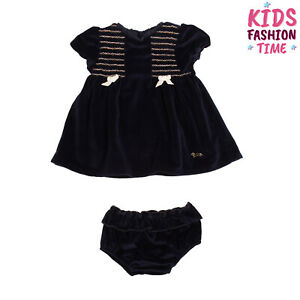 RRP €185 HARMONT & BLAINE Velour A-Line Dress With Bloomers Size 9-12M Pleated