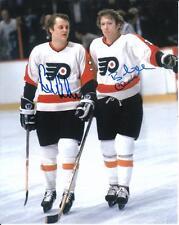 BOBBY CLARKE BILL BARBER Autographed Signed 8 x 10 Photo Philadelphia Flyers COA