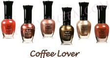 Kleancolor Coffee Lover Collection Nail Polish Lot of 6 Colors Set Lacquer