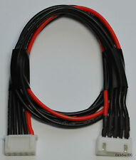 4S JST-XH Balance Tap Extension Adapter - 30CM 20awg Heavy Duty Red / Black Wire