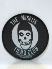 "THE MISFITS FIEND CLUB SKULL LOGO BLACK AND WHITE PATCH 3 3/4""ACROSS"