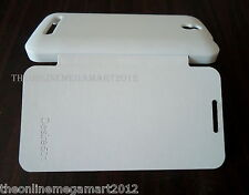 New White PU Leather Flip,Flap,Hard Back Cover Case Pouch for Htc Desire 501