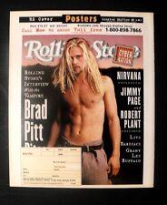 1995 Brad Pitt Movie Star Memorabilia~Rolling Stones Promo Poster Trade Print AD