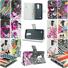 Wallet Slot Stand Flip PU Leather Cover Case For LG G3 G4 Mini G5 K5 K7 V10 L50