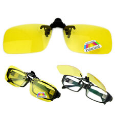Clip-on Polarized Day Night Vision Flip-up Lens Driving Glasses Sunglasses