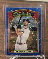 2021 Topps Heritage Baseball BRANDON LOWE Blue Sparkle Mega Box Tampa Bay Rays