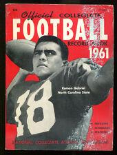 1961 NCAA Official Record Book Roman Gabriel NC State VG 15660