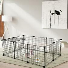 12 X Metal Panels Dog Playpen Crate Fence Pet Play Pen Exercise Cage Wire Yard