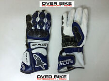 GUANTI GP PLUS, GLOVES ALPINESTARS 355651-70 BLU,BIANCHI, TG L