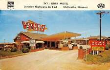Chillicothe Missouri Sky Liner Motel Street View Vintage Postcard K62618