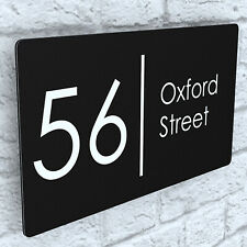 More details for house number plaques floating effect acrylic signs door plates name wall display