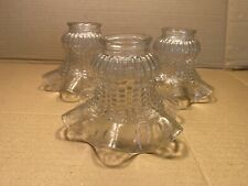 Clear Glass Ruffled Light Shade Chandelier Ceiling Fan Flared 3 Available 2 1/4""