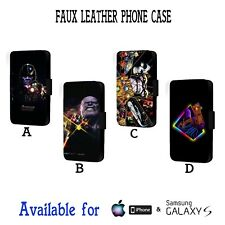 Thanos Marvel Villain Avengers Infinity Faux Leather Flip Phone Case Cover Y357