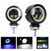 3inch 40W Round Cree LED Driving Spot Lights Angel Eyes UTV TRUCK 4x4 OffRoad