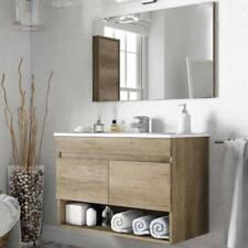 Mobile bagno sospeso 80 cm con 2 ante in legno più specchio in arrivo a Gennaio