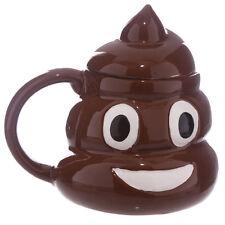 Novelty Emoticon Mug Poo Emoji Shaped Tea Coffee Drinking Ceramic Cup Poop Cup
