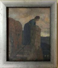 Franz Müller-Münster, Original Ölgemälde, Ausblick Symbolismus Berlin Steglitz