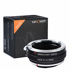 K&F Concept Lens Mount Adapter for Minolta(AF) Mount Lens to Canon EOS M Camera