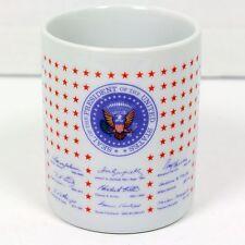 US Presidential POTUS Signatures Coffee Mug and Seal through Bill Clinton 1993