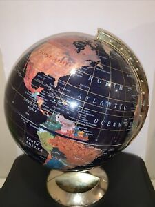 Vintage Earth Map Globe - World Geography Map - Home / Desk Decoration