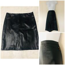 Leather Skirt Faux Size 20 Women's Black Zip Knee Length Tu BNWT New