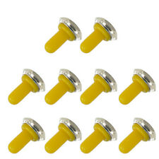 10Pc Yellow 12mm Rubber Rocker Toggle Switch Knob Waterproof Boot Cap Sales