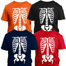 X-Ray Skeleton Bones T-Shirt Halloween Costume Fancy Dress Mens Ladies Kids Tops