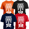 X-Ray Skeleton Bones T-Shirt Halloween Costume Fancy Dress Mens Ladies Kids Tops