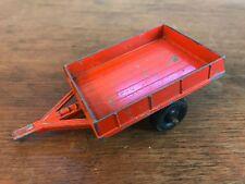 Vintage Red Diecast Farm Trailer Wagon (HD8)