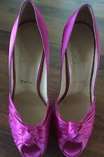 Christian Louboutin Pink Satin Gressimo Heels - Size 39.5