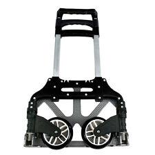 176lbs Cart Folding Dolly Push Truck Hand Trolley Luggage Aluminium W/Black Cord