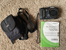 Canon PowerShot SX160 IS 16.0MP Digital Camera - Black w/ 8GB SD Card