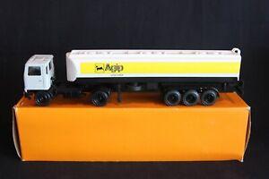 """Gescha Model Bedford 340 8V Truck + Tanker Trailer """"Agip"""" 1:50 #3010 (J&KvW)"""