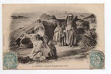 AFRIQUE DU NORD scenes et types ALGERIE tentes et nomades dans le sud