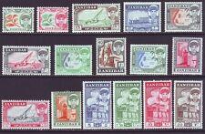 Zanzibar 1961 SC 264-279 MH Set