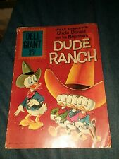 UNCLE DONALD AND HIS NEPHEWS DUDE RANCH DELL GIANT #52 1961 SILVER AGE lot run