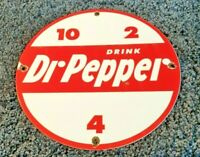 VINTAGE DR PEPPER PORCELAIN GAS SODA BEVERAGE BOTTLES COCA COLA PEPSI SIGN
