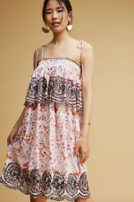 7ce4d634352 NWT  288 MEDIUM Samsa Embroidered Sundress Anthropologie Antik Batik Floral