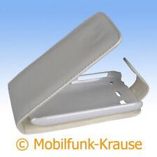 Flip Case Etui Handytasche Tasche Hülle f. HTC Desire S (Weiß)