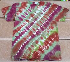Tie Dye T-Shirt Adult L Brown Forest Grape Gildan Free Shipping 100% Cotton